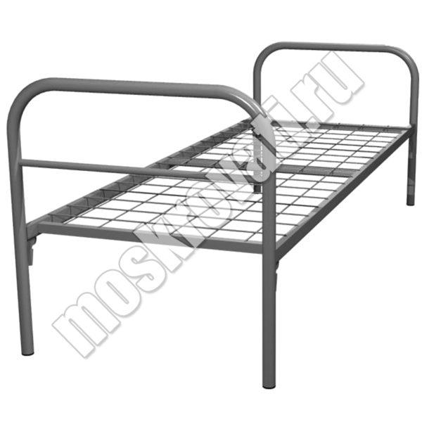 одноярусная металлическая кровать для рабочих и общежитий