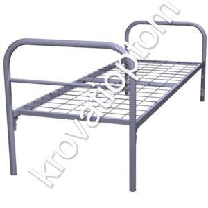 металлическая кровать одноярусная для рабочих и общежитий по цене производителя