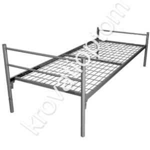 кровать одлноярусная металлическая для рабочих и бытовок, купить кровать металлическую для строителей