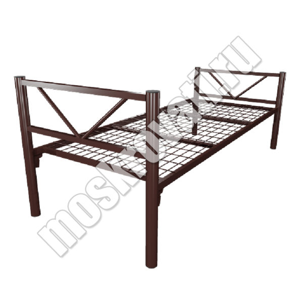 металлическая кровать одноярусная купить с доставкой Москва