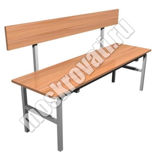 скамья со спинкой купить, скамья для общежития, скамейка в бытовку недорого