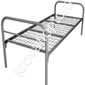 купить металлическую одноярусную кровать, кровати дял рабочих, строителей, общежитий