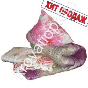 комплект постельного белья одеяло, матрас и подушка
