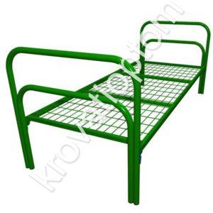 одноярусная металлическая кровать для общежития, армейская кровать для казармы купить недорого низкие цены