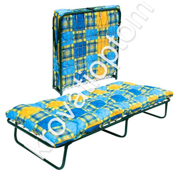 купить раскладушку с матрасом, металлические кровати Москва