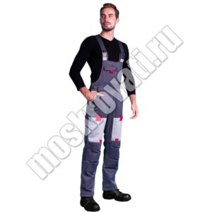 полукомбинезон с курткой для строителей